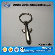 promotional custom metal 3d airplane keychain