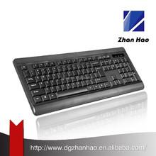 104 keys Black wireless mini arabic keyboard