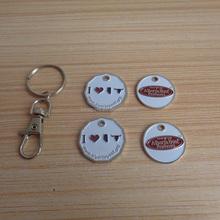 metal alberta beef producer grocery cart token coin canadian keyrings