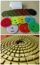 wet resin diamond polishing pads for marble and granite