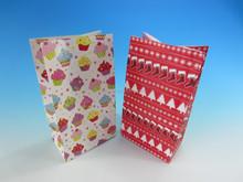 Fancy design colorful handmade custom shopping bags