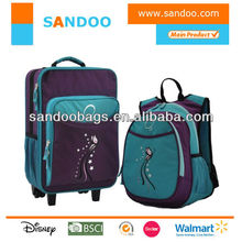 Factory wholesale cheap kids travel luggage and backpack set