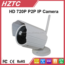 Water proof bullet 720P HD wifi p2p ip camera with IR detection TC-IPC521-GM