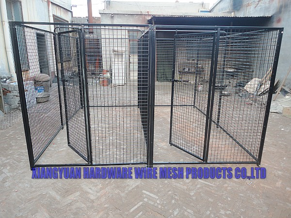 Big stocking fast delivery galvanized metal dog kennel whole sale(true factory)