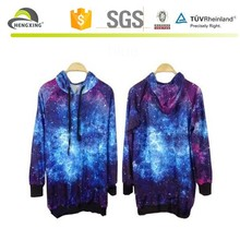 100% cotton galaxy tall hoodies manufacturers