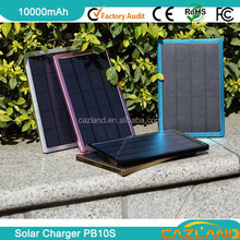 2015 10000mAh high capacity polycrystalline sillicon LED solar portable ligh