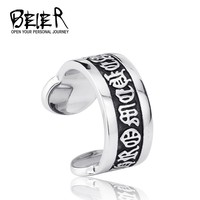 The Ring Open New Design Man's Gothic Old Word Lucky Ring Stainless Steel 2014 Ring From Tailand BR8-108