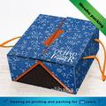 frutossecos plegable de regalo caja de cartón con el mango