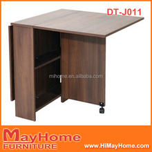 MDF extendable dining table with wheels