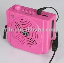 Professional Guides Portable Mini Waistband Amplifier with USB and TF slot, Echo and Remote Control Functions