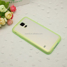 Transparent various colors soft TPU protect case for S5
