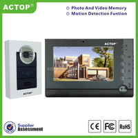 7 inch new smart electronic color display night vision wired video door phone 2015 support cctv take photo and video intercom