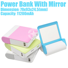 11200mAh mirror-4 Power Bank Emergency Mobile Phone Recharger With Mirror With Led Flashlight Made in China