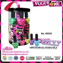 venta al por mayor brillo niña juguetes de neceseres de cosmética