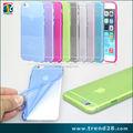 Oem logo flexível tpu caso para iphone 6 plus, para o iphone 6 candy cor caso tpu