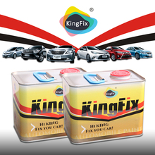 KINGFIX Brand 2k solid auto paint colors black cherry
