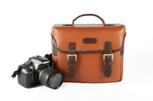 918 Brown Vintage Professional Camera Bag For Canon Nikon DSLR Camera Bag Leather PU Shoulder Bag
