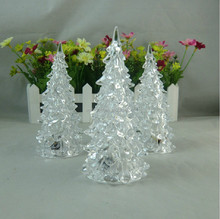 Popular Acrylicl LED Flashing Christmas Plastic Tree Cheap