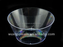 New dia. 6 inch ps plastic round clear bowl for salad/candy