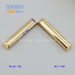 new styly metel corner for bags zinc alloy decorative corner for bag parts wholesale