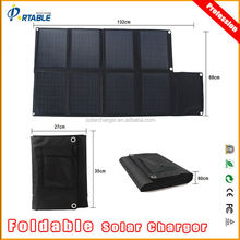 80W portable panel solar kit for laptop and car battery