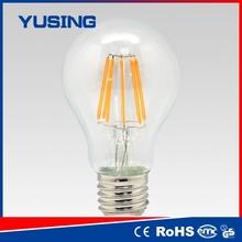 From China edison bulb e27 8w LED filament bulb hk discuss