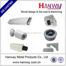 china manufacturer precision casting parts powder coating aluminum die casting for cctv camera housing aluminum die casting
