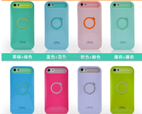 I-glow Plastic + Silicone Designed Protective Case Cover with Stand Support + 1 Pcs Wristband For iPhone 6 4.7''