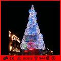 del bianco personalizzato albero di natale con il blues luci per centro commerciale