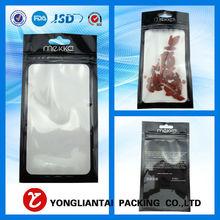 mobile phone case zip bag packaging/phone accessories plastic zipper bag