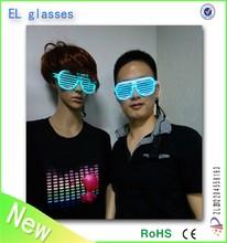 Crazy funny club amazing plastic EL wire flashing 3D luminous/noctilcent/fluorescent diffraction glasses party glasses