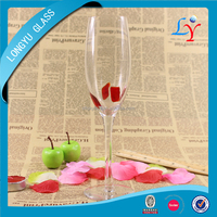 240ml thin and tall vodka heat resistant drinking glasses for champagne