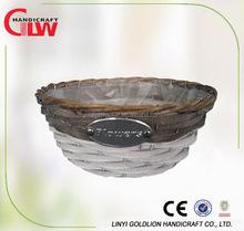 Garden plant pot with plastic lining,home decor handmade flower pot