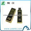 Unidade flash USB barra de ouro de venda quente