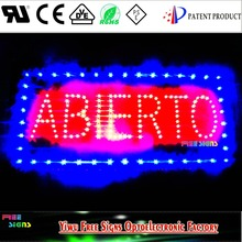ABIERTO animated led open sign, Led customize ABIERTO sign board for spain and South America markets