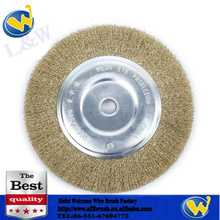 crimped cooper steel wire wheel brushes for polishing