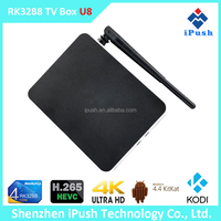Android 4.4 RK3288 Quad Core 4K Android tv box with KODI preinstalled