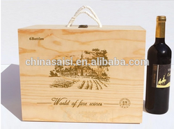 individual wine boxes wood made for gift