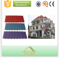 various color eco-friendly stone coated metal roof tiles