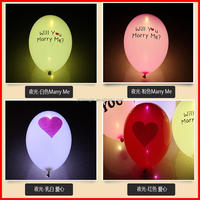 Plastic foil balloon blinking led balloon with great price