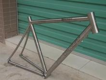 490/510mm available size Titanium super light road bike frame