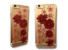 DIY handmade natural real flower phone case sublimation crystal phone case for htc desire816 with speciman dry pressed flower
