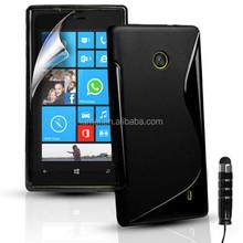 S-Line Silicone Soft Case Cover For Nokia Lumia 520 plus