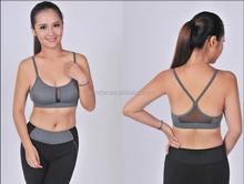 2015 nouveau design sexy femmes sport yoga soutien - gorge plaine sport soutien - gorge