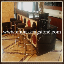 Black marquina marble table top