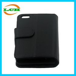 High quality dustproof 2in1 wallet leather mobile phone case for iphone 5c