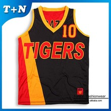 custom made sublimation print basketball jersey logo design