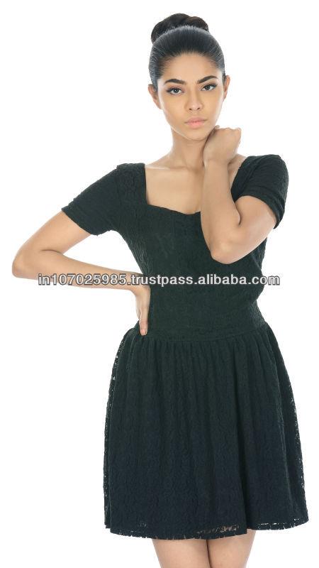 Dorothee haroske- sleevelace corto vestido