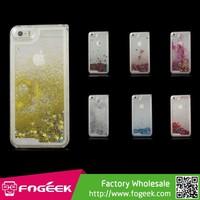 Liquid Quicksand Hourglass Fashion Glitter Stars Hard PC Case for iPhone 5s 5