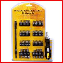 58pc Ratchet Handle Screwdriver Bit & Socket Tool Set